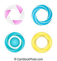 circles, styles, другой, 4, сегментированный