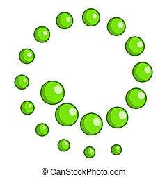 Circles twisted into spiral icon, cartoon style - Circles...