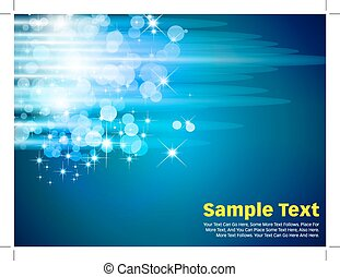 Circles Vector Background Blue