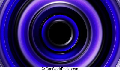 Circles with lights animated looping background - Blue...
