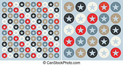 Circles with stars pattern background