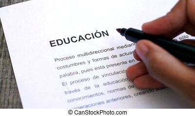 Circling Education with a pen