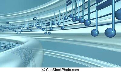 Circling Musical Staff