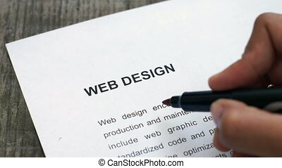 Circling Web Design - A person Circling Web Design with a...