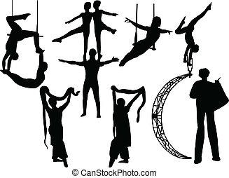 circo, artisti
