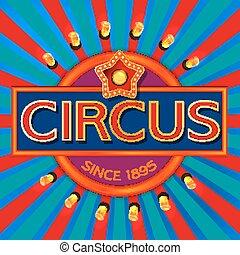 circo, bandeira, retro