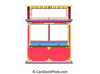 circo, carnaval, banca bilhete, levantar