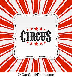 circo, cartel, plano de fondo
