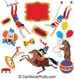 circo, compiendo, atti