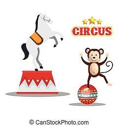 circo, disegno, mostra