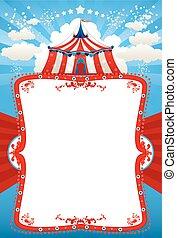 circo, fundo, barraca