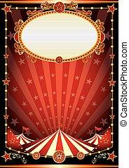 circo, negro rojo, plano de fondo