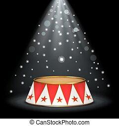 circo, palcoscenico
