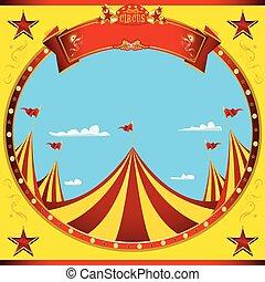 circo, quadrato, bello, giorno, aviatore