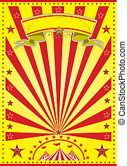 circo, raggio sole, giallo