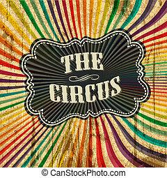 circo, raggio sole, modello, fondo., vettore, illustrazione,...