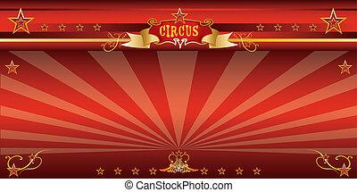 circo, rosso, invito