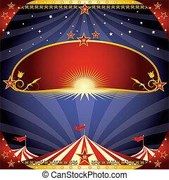 circo, saudação, voador