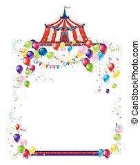 circo, scheda, festivo