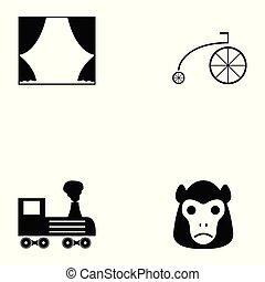 circo, set, icona