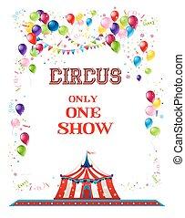 circo, vacanza, bandiera