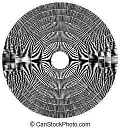 circolare, circles., geometrico, astratto, element., vista, cerchio, muratura, arte lapidaria, pietra, bene, cima