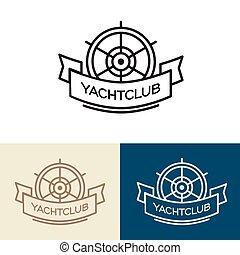 circolo yacht, logotipo, design.
