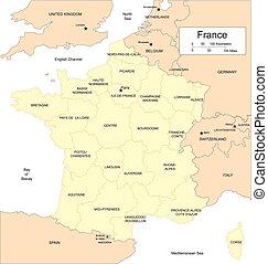 circondare, province, francia, paesi