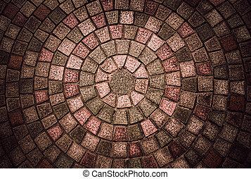 Circuilar cobblestone pattern