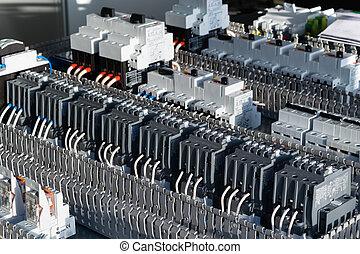 circuit, électrique, planche, composants