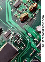 circuit électronique, macro, motifs