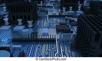 abstract close-up of a circuit board