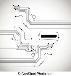circuit, abstract, achtergrond, textuur, plank