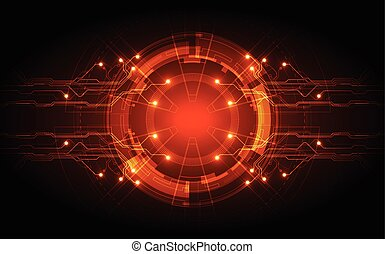 circuit, abstract, illustratie, vector, achtergrond, technologie