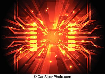 circuit, abstract, illustratie, vector, plank, achtergrond