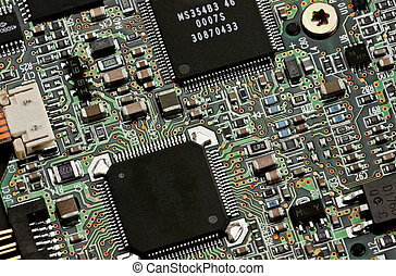Circuit board 2 - Close-up photo of detail of electronic ...