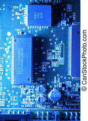 Circuit board abstract background