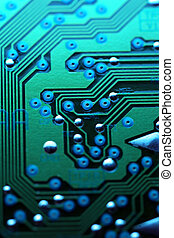 Circuit board abstract background texture.