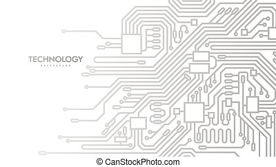 Circuit board abstract background. Vector futuristic...
