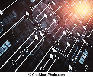 Circuit board background - Abstract circuit board...