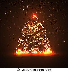Circuit board background, christmas tree - Circuit board...