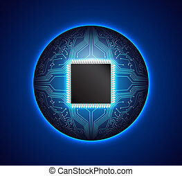 Circuit board background. EPS10 vector