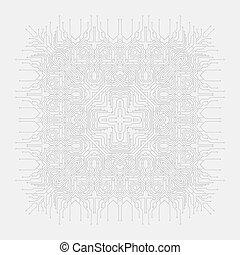 Circuit board background. Vector illustration