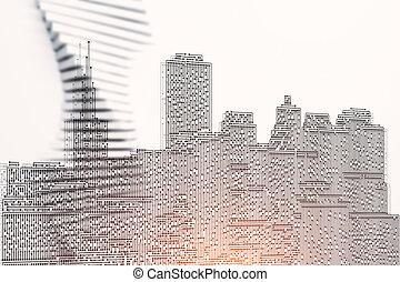 Circuit board city texture