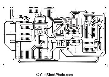 Circuit board close up.