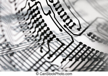 Circuit board close up.