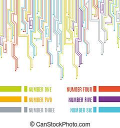 Circuit board design. Vector illustration.