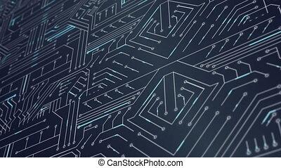 Circuit board - Digitally generated circuit board