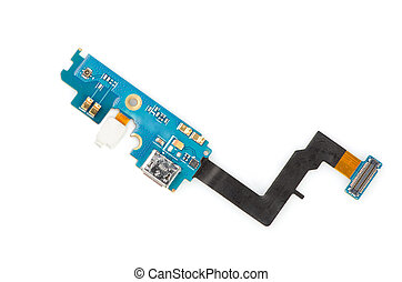 Circuit board for your phone on white background