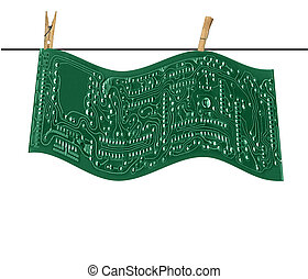 Circuit Board Hanging on Line